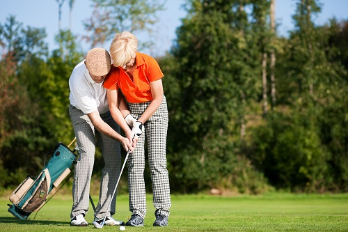 Active Adult Community Playing Golf