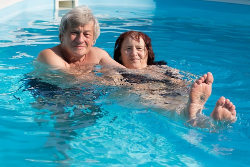 Seniors Swimming In Arundel Lifestyle Retirement Village